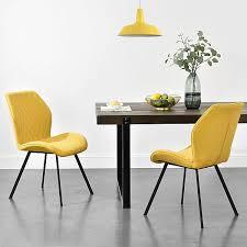 2x stühle in verschiedenen farben gepolstert mit textilbezug esszimmer stuhl polsterstuhl lounge set gelb en casa