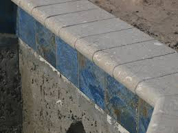 Waterline Pool Tile Designs by The New Blue Pool Coping