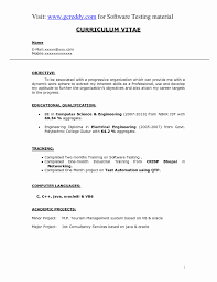 Objective For Resume Freshers In It Examples Fresh Software Engineer