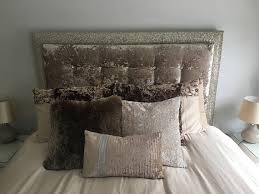 Velvet Headboard King Size by Upholstered Headboard With Memory Foam Champagne Gold Glitter