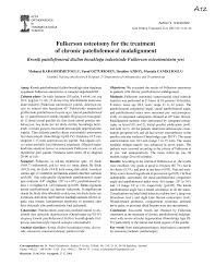 si e orthop ique fulkerson osteotomy for the treatment of pdf available