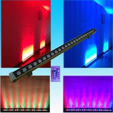2018 24watt led wall washer light rgb remote 1watt led