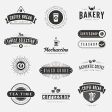 Coffee Retro Vintage Labels Logo Design Vector Typography Lettering Inspiration Templates Old Style Elements