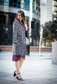 Cupcakes And Cashmere Leopard Belted Trench Coat 11 Cute Fall Outfits To Transition Into Colder