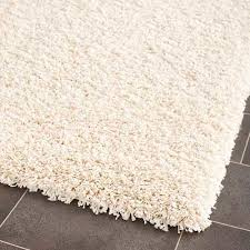 California Shag Ivory Rectangle 8 Ft 6 In X 12