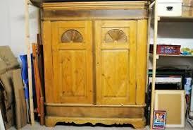 details zu schrank diele schlafzimmer kleiderschrank eiche gezapft zerlegbar antik alt groß