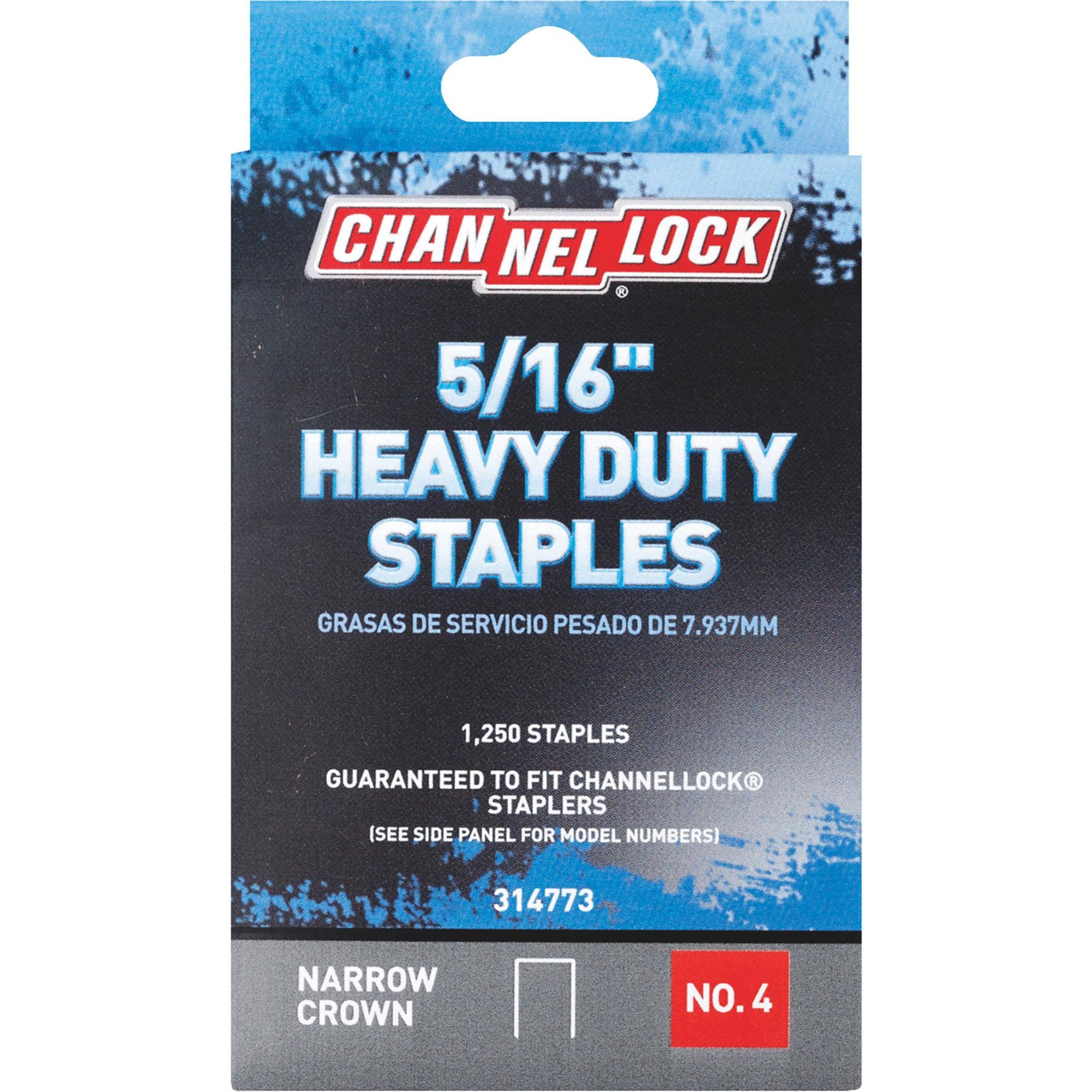 Channellock No. 4 Heavy-Duty Narrow Crown Staple (Pack of 5) 314773