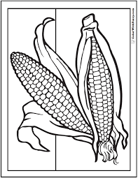Summer C Coloring Pages Corn Husk Page Free