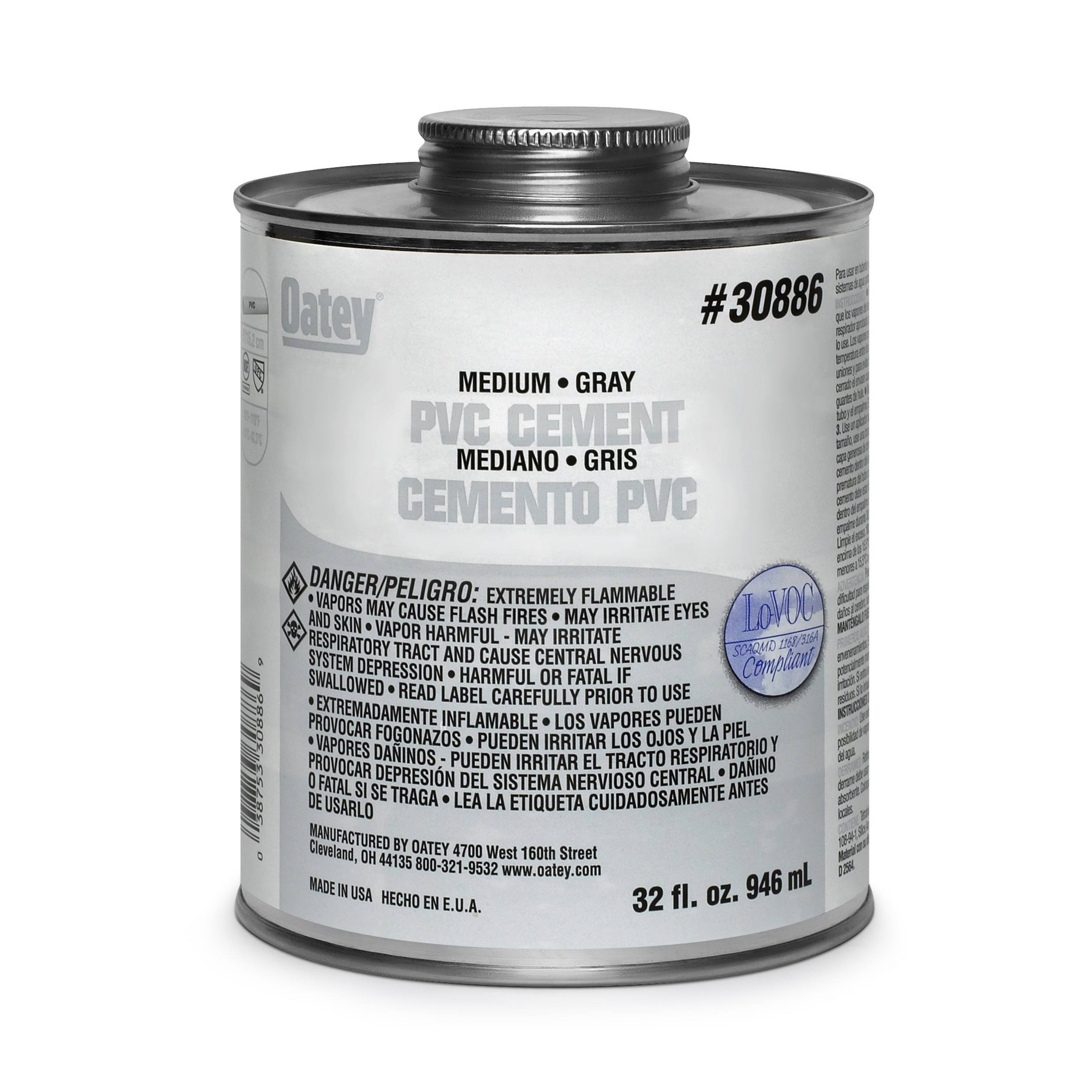 Oatey Fusion Single Step PVC Cement - 10oz