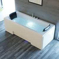 whirlpool badewanne ios 170cm x 75cm inkl spülfunktion hydromassage und farblichtherapie