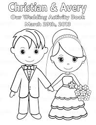 Printable Personalized Wedding Coloring Activity Book Favor Kids 85 X 11 PDF Or JPEG TEMPLATE On