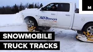 This Car Add-on Will Make Your Truck A Snowmobile Monster - YouTube Pin By David Tourn On Suv Historia Y Usos Pinterest Mattracks 105150 Series Truck Tracks Mountain Grooming Equipment Powertrack Systems For Trucks What Is This Ctraption Its Swamp Traxx The Off Road Trax Snow For Trucks Prices Right Track Systems Int Kids Gift Toy Remote Controlled 24 Ghz Thunder Rc N Go Truck Track Suvs Youtube Front Of New Holland T8410 Smart Farm Equipment Ken Blocks Raptor Custom Rubber 400 Cversions