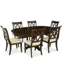 Baker Street Round Expandable Dining Furniture 7 Pc Set Table