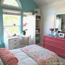Bamboo Desk And Dresser Painted Bright Pink And Turquoise Ghost