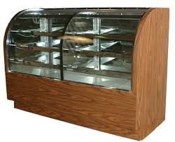 Refrigerated And Non Black Bakery Display With Curved Front Glass