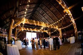Wedding Barn Paper Lanterns Hung