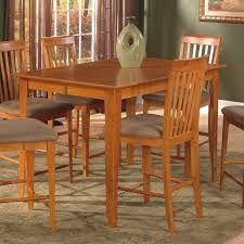 Leo Lacey Counter Height Pub Dining Table In Caramel Latte