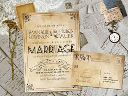 Beautiful Rustic Vintage Wedding Invitations To Inspire You On How Create Your Own Invitation