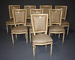 louis xvi chair antique set of 8 louis xvi painted dining burlap chairs for sale