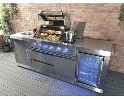 buschbeck gasgrill outdoorküche oxford mit 4 brennern seitenbrenner edelstahlrost spülbecken mit armatur und kühlschrank