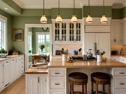 kitchen paint colors with oak cabinets with light green wall