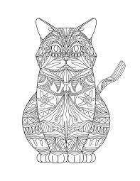 Adult Coloring Pages Cats 3 2