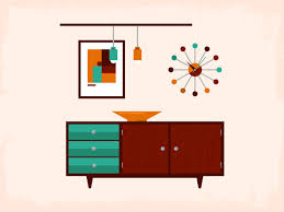 Mid Century For Your Home Design Ideas Modern Living Illustrations Designed With Cabinets