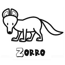 Dibujo Infantil De Zorro Para Pintar