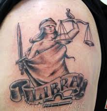 35 Lady Justice Maintains The Balance 69 Libra Tattoos