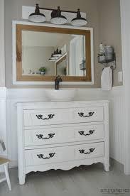 Master Bathroom Vanity With Makeup Area by Farmhouse Master Bathroom Reveal Little Vintage Nest