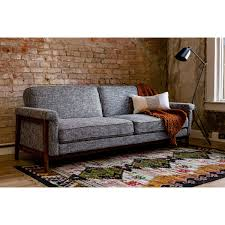 100 Sofa Modern Ainsley MidCentury Grey Upholstered Sleeper