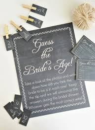 Chalkboard Guess The Brides Age Game Available In Atiliays Etsy Shop