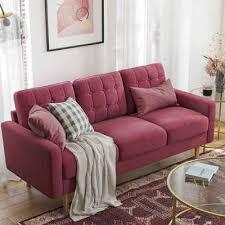 vasagle 3 sitzer lcs101g01 lcs101m01 lcs101r01 fürs wohnzimmer polyester rot