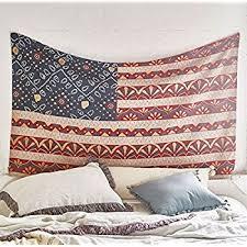 Americana Tapestry Beach Blanket Wall Art Bedspread Dorm Tapestry60x 80Twin Size