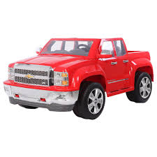 100 Power Wheels Chevy Truck Rollplay Silverado 12 Volt Ride On Red Happy 7th Birthday