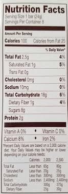 Chewy Chocolate Chip Granola Bar Nutrition Facts