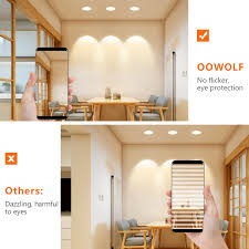 oowolf led einbaustrahler 6er set ip44 wasserdicht 230v 4w