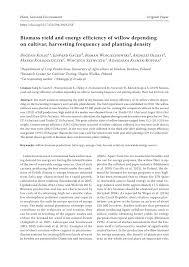 100 Edward Szewczyk PDF Biomass Yield And Energy Efficiency Of Willow Depending