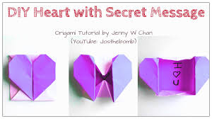 DIY Origami Heart Box Envelope With Secret Message