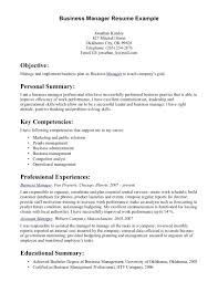 Business Owner Sample Resume Template Company Cover Letter