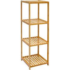 dunedesign xl bambus holz regal 83 x 38 x 39 5 cm 3 fächer