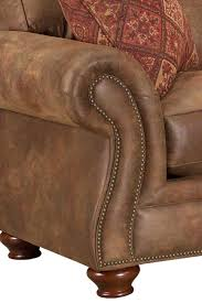 broyhill furniture laramie sofa w nail head trim colder s