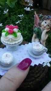 Fairy Garden Tea Cups Dollhouse Set Miniature Dishes Food Miniatur
