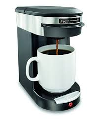Hamilton Beach Commercial HDC200S Coffeemaker 1 Cup Black Silver Single Serve Pod