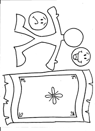 Clip Art Jesus Heals The Paralytic Coloring Page Breadedcat Free Inside A