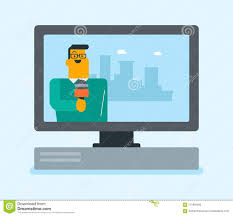 Download Television Set Broadcasting Interview Stock Vector