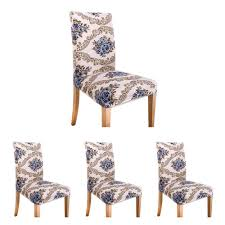 Fortunet 4 Pcs Modern Stretch Dining Chair Covers Removable Washable  Spandex Slipcovers For High Chairs