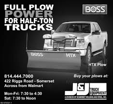 FULL PLOW POWER FOR HALF-TON TRUCKS, J & J TRUCK EQUIPMENT, Somerset, PA