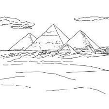 Three Famous Pyramid Coloring Page