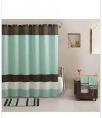 Modern Bathroom Rugs And Towels by Aqua Blue Brown Towels Rug Shower Curtain Modern Bath In A Bag